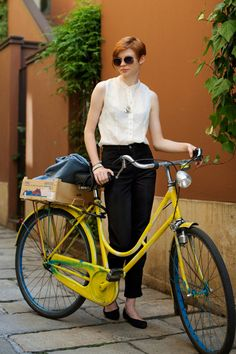 biking in a blouse