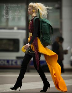 'Clash Of The Tartans' Daphne Groeneveld by Hans Feurer For Vogue Netherlands October 2013