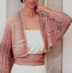 Crochet Ladies Simple Shrug Pattern PDF by HippyFix on Etsy, $3.00