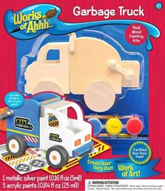 Garbage Truck - Wood Painting Kit