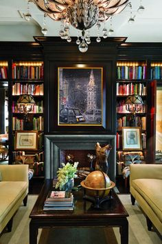 Transform your home with furnishings, decor & inspiration from Providence Design. We'll take care of your every home design & decorating need. Design Salon, Home Design, Design Ideas, Design Design, Design Projects, Home Libraries, Black Walls, Black Rooms, Gold Walls