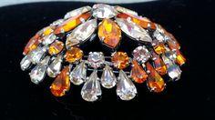 Orange domed fur clip  Depose fur clip  by SteamyAntiquities