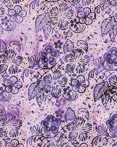 Flower Basket Batik - Heather Purple. From eQuilter.com