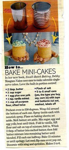Teeny cakes- cute!