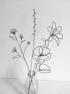 Wire Crafts, Diy Home Crafts, Diy Arts And Crafts, Fall Crafts, Mural Floral, Floral Wall, Wire Wall Art, Wooden Wall Art, Deco Nature