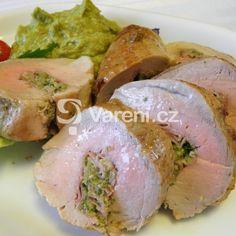 Plátky panenky s chuťově zajímavým pyré a opečenými brambory. Recept na výborný hlavní chod z divočáka. Pork, Meat, Kale Stir Fry, Pork Chops