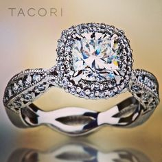 Tacori wedding ring with infinity band