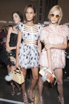 LOVE THIS!  Backstage Pass: Milan Fashion Week Spring 2015 - Backstage at Fendi Spring 2015