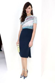 All of the best-dressed attendees spotted front row at Paris Couture Week. Olga Kurylenko at Christian Dior.