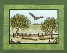 In the country by Jenny Mayes Card Io, Art Cards, Big Project, Watercolor Cards, Landscape Art, Decoration, Birthday Cards, Stamps, Card Making
