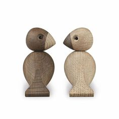 I Just love these white and smoked oak Lovebirds by Kay Bojesen. Together with Kay Bojesen's other wooden figures, the Lovebirds are placed in the unique Design Shop, My Design, Wood Design, Wooden Figurines, Wooden Toys, Wooden Animals, Little Birds, Love Birds, Lagom Design