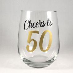 Birthday Wine Birthday Gift/Cheers to Anniversary Gift Idea/Personalized Birthday Gift/Milestone Birthday 21st Birthday Glass, 50th Birthday Party Themes, Birthday Shots, Birthday Mug, 50th Birthday Gifts, Birthday Woman, 50th Anniversary Gifts, 21st Gifts, Milestone Birthdays