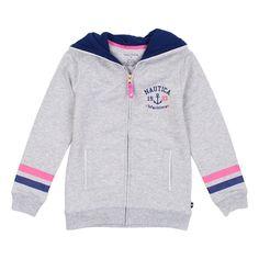 Buy Nautica Big Girls Long Sleeve Hooded Sweatshirt Grey, from Nautica for only $39.99 at redtagfashion.com | Redtag Fashion