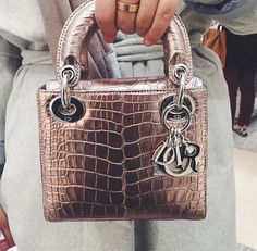 Image about fashion in Accessories by HannieBee - Dior Bag - Ideas of Dior Bag - Image about fashion in Accessories by HannieBee Sac Lady Dior, Lady Dior Mini, Luxury Bags, Luxury Handbags, Purses And Handbags, Dior Handbags, Metallic Handbags, Cute Bags, Mode Style
