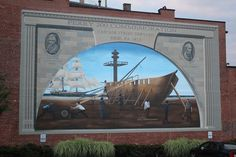 Battle of Lake Erie bicentennial mural by Michael Hinman.