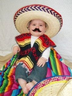 75 Cute Homemade Toddler Halloween Costume Ideas. Baby Scarecrow Costume Mexican ... 92e255fab44