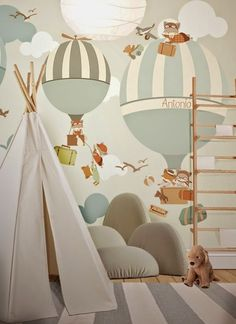 little hands wallpaper bemydeco Baby Bedroom, Baby Boy Rooms, Baby Boy Nurseries, Nursery Room, Kids Bedroom, Trendy Bedroom, Little Hands Wallpaper, Baby Wallpaper, Kids Room Wallpaper