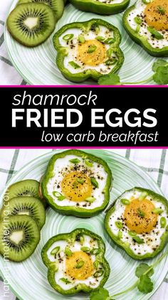 Low Carb Shamrock Eggs for St. Patrick's Day Breakfast Are you looking for a low carb breakfast idea for St. Patrick's Day? These Shamrock Fried Eggs are delicious, healthy and a lot of fun for St. Patty's Day – or any day of the year. Low Carb Breakfast, Healthy Breakfast Recipes, Healthy Recipes, Breakfast Ideas, Healthy Options, Ketogenic Breakfast, Fall Breakfast, Breakfast Muffins, Breakfast Smoothies
