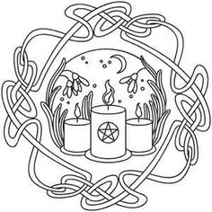 Wheel of the Year - Imbolc design (UTH2601) from UrbanThreads.com