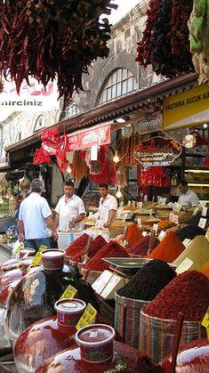 Market at Egyptian Spice Bazaar, Istanbul, Turkey