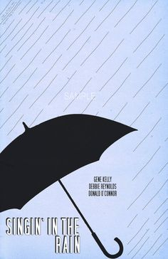 Singin' In The Rain  12x18 inch Minimalist Poster by Ghoulery, $10.00