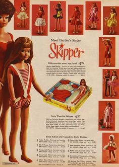 I used to play with this EXACT Skipper doll at my Grandmother's house!