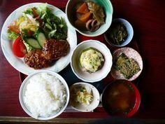 Chicken rissole lunch set