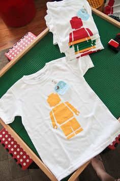 Modern LEGO r Inspired tee shirt person by madebymorganwiebke, $22.00
