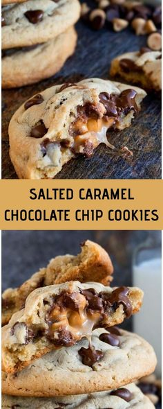 This soft and chewy salted caramel chocolate chip cookies recipe is easy to make and has an ooey gooey center. They are huge, like bakery s. Cracker Toffee Bars Recipe, Toffee Recipe With Crackers, Toffee Cake Recipe, English Toffee Recipe, Caramel Chocolate Chip Cookies, Perfect Chocolate Chip Cookies, Salted Caramel Chocolate, Chocolate Caramels, Chocolate Cupcakes