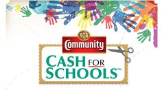 Clip Community Coffee labels and send them to school. We receive cash for every label that we turn in!