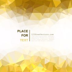 Light Golden Abstract Polygonal Triangular Background Image