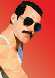 Freddie Mercury Poly art by Anirban Kar a.a Arnab Spiral Art, Queen Poster, Music Painting, Queen Art, Queen Freddie Mercury, Angel Art, Rock, Painting Inspiration, Illustrations Posters