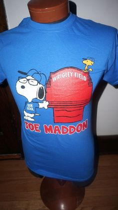 snoopy joe cool cubs shirt maddon glasses hipster chicago wrigley field in Sports Mem, Cards & Fan Shop, Fan Apparel & Souvenirs, Baseball-MLB | eBay