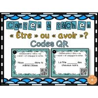 Être ou avoir ? - Cartes à tâches - Codes QR Reading Comprehension Activities, France, Teaching French, Qr Codes, Coding, Verb Words, Teaching, Learning, Teaching French Immersion
