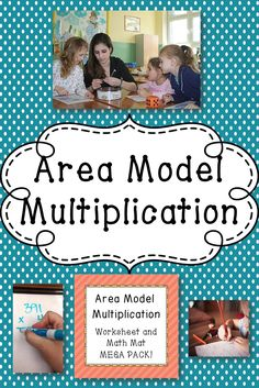 A math set with mats to use in a math center and worksheets.  Help your 4th grade students learn this multiplication method!  Common Core aligned!