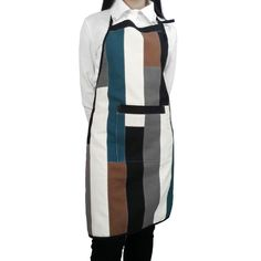 Stripe Patchwork Apron Durable Kitchen/ Chef/ Art Works Apron With One Pocket