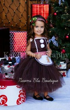 Gingerbread man tutu