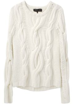 Rag & Bone / felted Cable Sweater