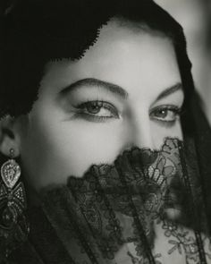 "Ava Gardner, ""Bhowani Junction"", 1956Photographer: George Hoyningen-Huene (viaclassicfilmheroines)"
