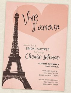 Paris themed bridal shower invitation vistaprint bridal shower bridal shower ideas the best decorations and desserts for your pre wedding soiree filmwisefo