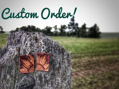 Made To Order Custom Hand Tooled Sunflower Leather Earrings - Silver Wings Custom Leather #silverwingscustomleather #montanamaker #tooledleather  #basketstamped #sheridan #tack #gear #western #handcarved #handtooled #custom #headstall  #handmade #hermannoak #leather #customleather #floral #spurstraps #beaded #clutch #cowhide #leatherbag #leatherpurse #tooledleatherclutch  #tooledearrings #leatherearrings #westernjewelry #earrings #sunflower #tooledsunflower Leather Tooling, Leather Purses, Leather Earrings, Silver Earrings, Western Jewelry, Unique Jewelry, Spur Straps, Silver Wings, Headstall