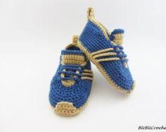 Crochet zapatillas de bebé botitas de bebé zapatos de por Yunisiya