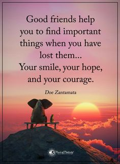 "★★★ ""Good friends help you to find important things when you have lost them .... your Smile, your Hope, and your Courage."" ~Doc Zantamata ❤"