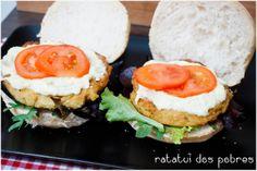 ratatui dos pobres: Hambúrgueres de grão-de-bico c/ molho de lima e gengibre