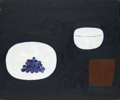 William Scott, Still Life, Grapes, 1976, Oil on canvas, 63.5 × 76.5 cm / 25 × 30 in, Private collection