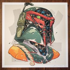 #TOYSREVIL: MECHASOUL BOBAFETT Print by Clogtwo Available Now ...