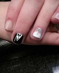 www.weddbook.com everything about wedding ♥ Bride and groom nail art design. Unique & creative wedding nail artwork. #weddbook #wedding #nail
