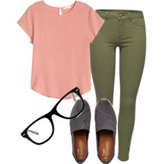 Student teacher by womack470 on Polyvore featuring H&M, TOMS and Muse