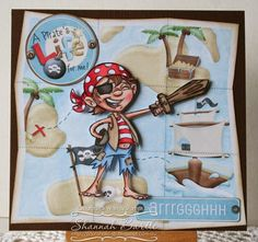 Whimsy Stamps card by Shannah Bartle using 'Pirate Boy' by Krista Heij-Barber.