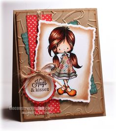 Hugs and Kisses, handmade card by Jen Shults
